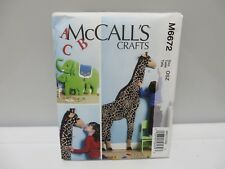 McCall's A B C Crafts Pattern #M6672 Wall Decorations Giraffe Elephant - New