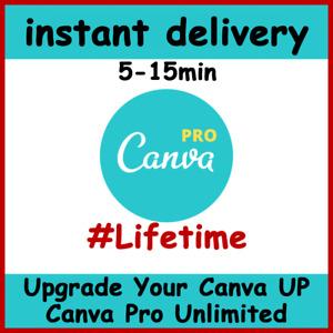 Canva Pro Unlimited Lifetime Graphic Design, Upgrade Your Canva to Canva Pro Edu