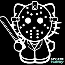 Jason Vinyl Decal Halloween Horror Sticker Hello Kitty 4""