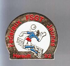 RARE PINS PIN'S .. SPORT VOLLEY BALL TEAM CLUB FSGT JEUNES HERAULT 34 ~BG