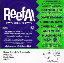 REEFA! Rave Flyer Flyers A5 year unknown The Garage Nottingham Dave Seaman James