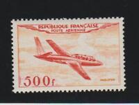 **France Air Post #C31 Miles Magister 500fr carmine & orange, MNH,CV$200