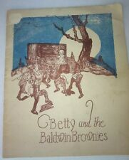 1924 Betty And The Baldwin Brownies Childrens Coloring Book Piano Co Promotional