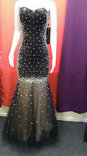 Black Elegant Evening Dress/Gown with stunning Stones throughout DRESS