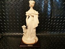 Capodimonte Bruno Merli Figurine Lady with Dog