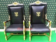 GOLD Tony Montana Al Pacino Scarface Throne Chair .Rare collectors armchair