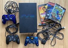 Sony PlayStation 2 / Ps2 Console - Fat Black Scph-39001 w 3 Controllers & Games