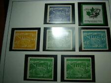 JNF Jewish National Fund Canada lot 7 Forest Galil Stamps Labels Judaica kkl