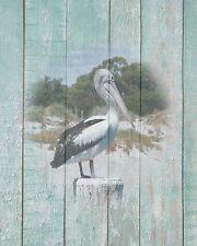 Coastal Wall Art Pelican Photo Print Teal Beach House Home Decor Ocean Shore