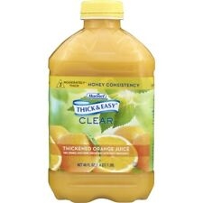 Thick & Easy Clear Thickened Orange Juice, Honey Consistency, 46 Ounce (Pack of