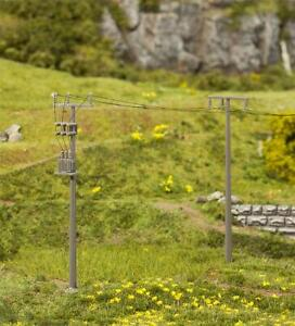 Faller HO Scale Scenery Accessory Kit Utility/Electric Poles 4-Pack/Accessories