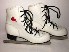 Girls Figure Ice Skates Size 2 Girls Figure Skates White Slm Blades-Ships N 24Hr