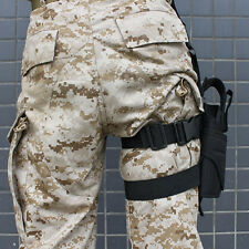 Adjustable Tactical Pistol/Gun Drop Leg Thigh Holster w/ Spare Pouch Right Hand