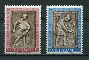 s6838 ITALIA 1963 MNH Fame nel mondo FAO 2v