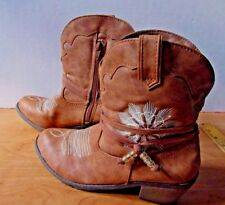 Stevies by Steve Madden Women's Tan Western Cowgirl Boot NEW Size 6