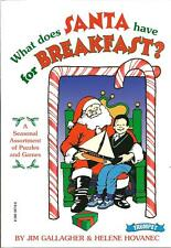 WHAT DOES SANTA HAVE FOR BREAKFAST New HOLIDAY Game BOOK Puzzles CHRISTMAS