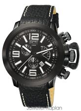 ESPRIT COLLECTION ES-URANOS NIGHT EL900211004 Herrenuhr Leder Chrono NEU