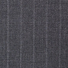 Holland and Sherry Medium Grey Narrow Chalk Stripe All Wool Suiting - 3.50 Mtrs