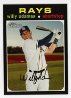 2020 Topps Heritage #289 WILLY ADAMES Tampa Bay Rays 1971 STYLE BASEBALL CARD
