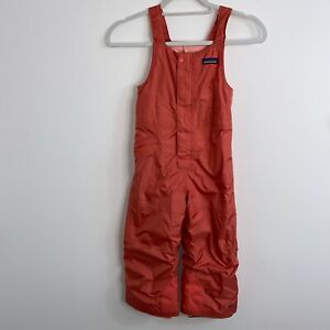 Patagonia Kids Girls Size 5T Baby Snow Pile Bibs Coral Flaw
