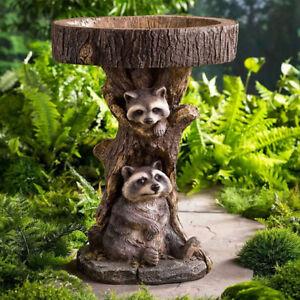 Resin Raccoon Birdbath Polyresin Antique Garden Bird Bath For Home Garden Ya Fx