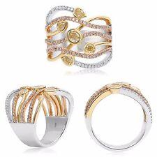Avant garde 18K Gold Yellow Diamond Ring