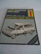 Vintage Ford Aerostar Mini-Vans 1986-1994 Automotive Repair Manual S/C