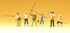 Preiser 75022 Angler und Sportfischer TT 6 Figuren 1:120 handbemalt, Neu