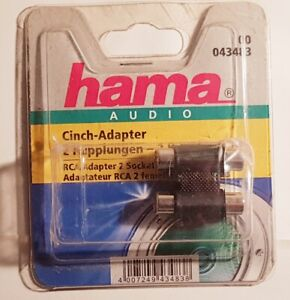 Cinch Adapter 2 Kupplungen HAMA 43483 AUDIO RCA 2 Sockets RCA 4007249434838 NEU