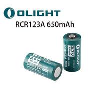 2PCS Olight Batería RCR123A 650mAh 3.7V 16340