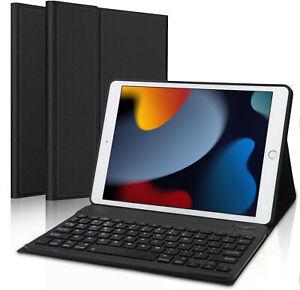For Apple iPad 9th Gen 10.2 2021 Wireless Bluetooth Keyboard Smart Case Cover