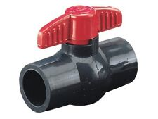 "PVC Ball Valve 1"" inch Socket Compact Molded In Place MIP **LD Brand**"