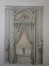 Décoration Tenture Francaise Fenétres renaissance grande galerie- gravure
