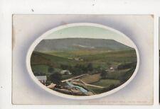 Barley & Pendle Hill Nelson Lancashire circa 1910 Postcard 387b