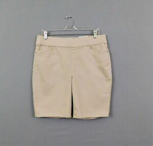 Intro Heart Women's Shorts, Size 12P, Khaki Beige, Poly/Cotton/Rayon/Spandex