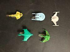 STAR TREK VINTAGE LOT OF 5 PLASTIC SHIPS WITH 4 STANDS