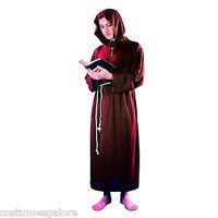 SW Mens Costume Fancy Dress Medieval Brown Priest Monk Friar Religious Size M L