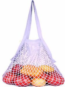 EcoBags® Organic String Shopping-Bag Market Collection with Long Handle Lavender