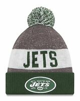 NY Jets Cuffed Beanie Knit Winter Cap Hat NFL Authentic New Era