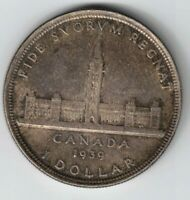 CANADA 1939 PARLIAMENT SILVER DOLLAR KING GEORGE VI SILVER COIN TONED