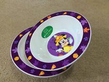 Disney Halloween Minnie Mouse Breakfast Bowl Micro Safe Kids Girl Bundle X2