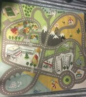 Kids Carpet Playmat Rug City Life Great for Playing with Cars and Toys 4x4