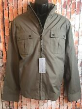 Andrew Mark MARC NEWYORK Olive Soft Shell Rain Wind Breaker Jacket XL