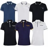 Mens T Shirts Crosshatch PK Polo Shirt Pocket Pique Tees Tops Multi-Color M-2XL