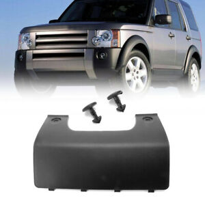 Black Rear Bumper Towing Eye Hook Cover Fit For Land Rover LR3 LR4 w/Clips'