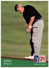 John Daly #93 PGA Tour Golf Set pro 1991 tarjeta de comercio (C321)