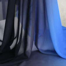 By yard gradient dress cloth royal blue black ombre chiffon material