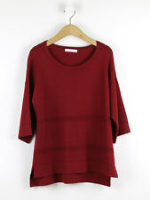 Finery Womens Brick Red Short Sleave Jumper Size 10