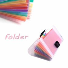 13 Pocket Folder Office Expanding File Colorful Organizer Document Y7B3