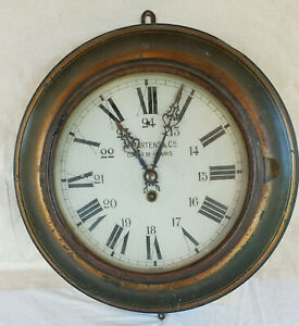 Anitque A Martens & Cie Round  French Wall Clock, High end Brass Movement